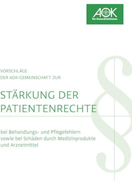 Cover: Positionspapier Patientenrechte - kh